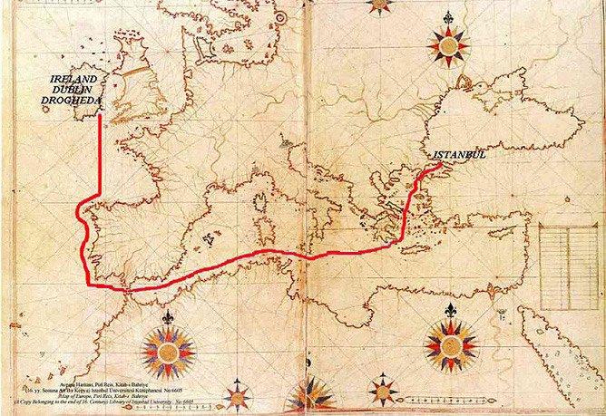 L'aide ottomane aux Irlandais