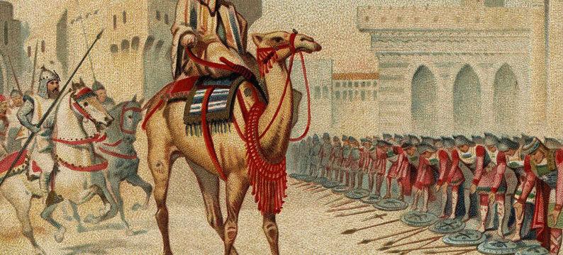 L'arrivée dʿUmar ibn al-Khaṭṭāb à Jérusalem dans histoire culture ob_e97ca8_grands-conquerants-omar-le-2eme-cali-794x360